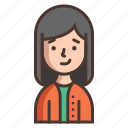 avatar, cute, girl, human, kids, people, woman icon
