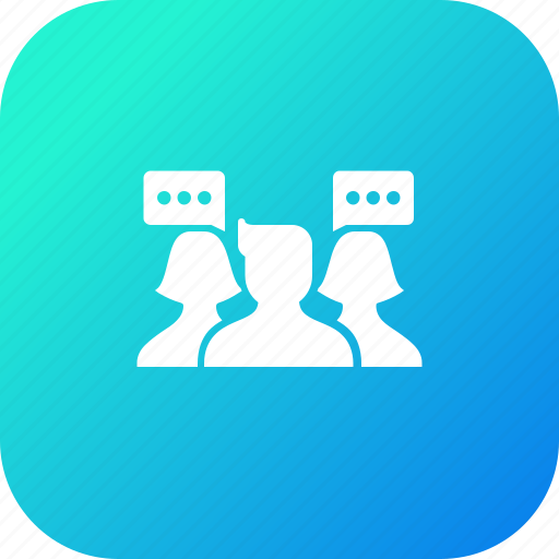avatar, communication, connection, connectivity, group, people, talk icon