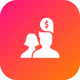 avatar, discussion, group, money, people, stratergy, think icon