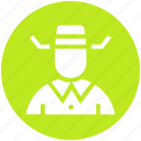 avatar, cowboy, hat, human, man, secretive, spy