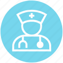 assistance, avatar, doctor, healthcare, medical help, physician, stethoscope icon