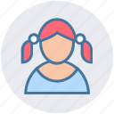 avatar, child, girl, kid, school girl, student, user icon