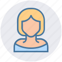 avatar, blonde, girl, lady, office woman, teacher, woman