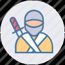 avatar, japanese, ninja, ninjutsu, shinobi, spy, warrior icon