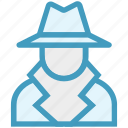 court, crime, criminal, detective, law, mafia spy thief, police icon