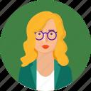 avatar, doctor, female, girl, lady, professor, scientist, teacher, user icon