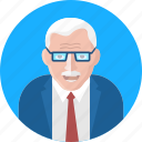 doctor, old age, old human, old man, old person, professor, senior citizen icon