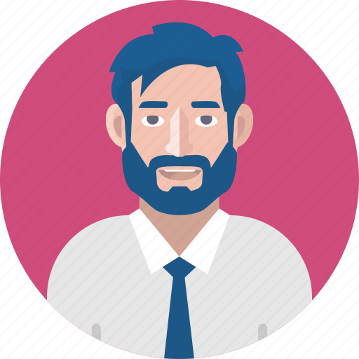 avatar, bearded man, business, businessman, male avatar, male person icon