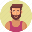 avatar, beard, male, man, person, rapper, user, young icon