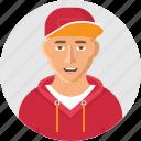 avatar, boy, cap, rapper, user, winter, young icon