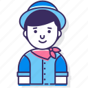 avatar, character, fedora, male, man, person, user icon