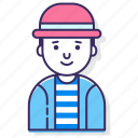 avatar, character, hat, male, man, person, user icon