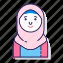 avatar, character, female, hijab, muslim, veil, woman icon