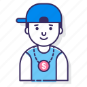 avatar, cap, character, male, man, person, user icon