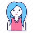 account, avatar, character, female, person, user, woman