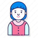 account, avatar, character, female, person, user, woman icon