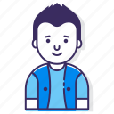 account, avatar, character, male, man, person, user icon