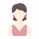 appearance, avatar, face, hairstyle, portrait, style, woman icon