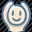 doodle, raise arms, love, avatar, human