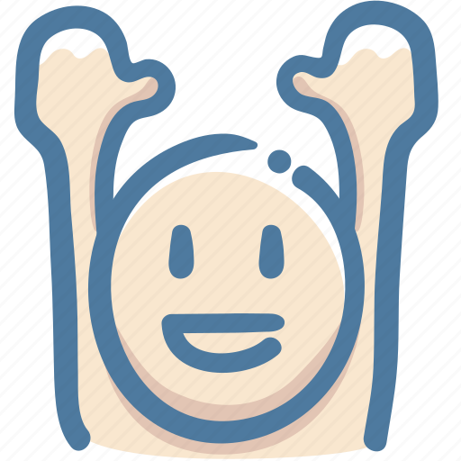 Avatar, doodle, glad, raise arms, vote, yahoo icon - Download on Iconfinder