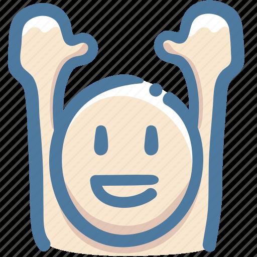avatar, doodle, glad, raise arms, vote, yahoo icon