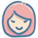 doodle, girl, user, woman icon