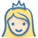 avatar, doodle, person, queen icon