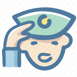 avater, hat, man, police, security guard, service icon