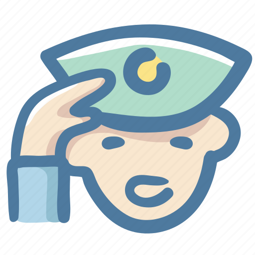 Police, service, security guard, avater, hat, man icon - Download