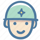 avatar, doodle, hat, man, soldier icon