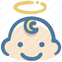 angel, avatar, baby, boy, doodle icon