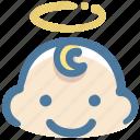 baby, boy, avatar, angel, doodle
