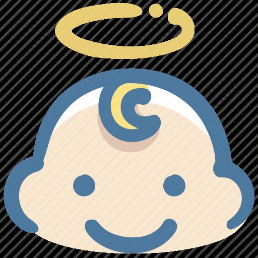 angel, avatar, baby, boy, doodle icon