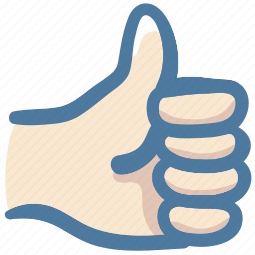 Good, like, doodle, awesome, hand, thumbs up icon