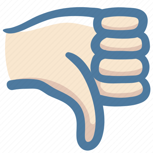 bad, disapprove, dislike, doodle, hand, thumbs down icon