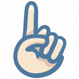 doodle, finger, hand, no, one, point, pointing up icon
