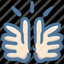 clap, doodle, hands icon