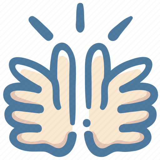 Doodle, clap, hands icon - Download on Iconfinder