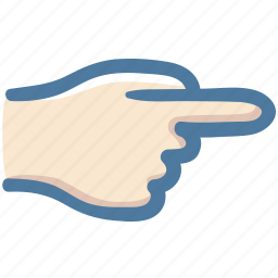 direction, doodle, hand, indicator, point, right icon