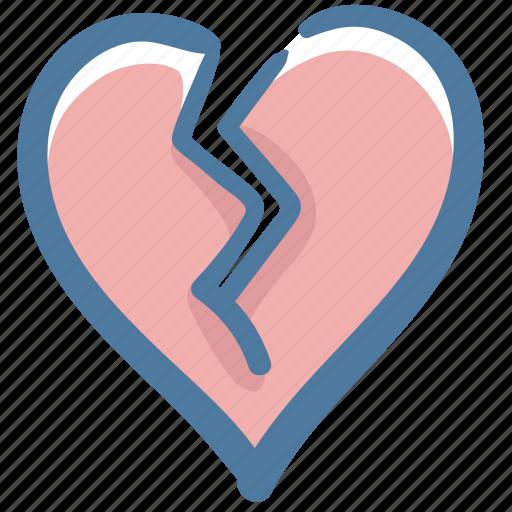 Heart, break my heart, love, like, doodle, broken, broke icon