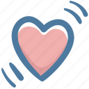blow, doodle, favorite, heart, like, love icon