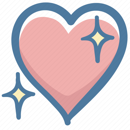Doodle, favorite, like, love, heart icon - Download