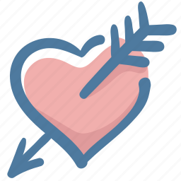 cupid, doodle, fall in love, favorite, heart, like, love icon