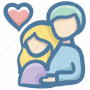 couple, doodle, family, heart, lover, parents icon
