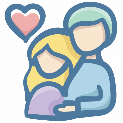 Heart, family, doodle, couple, parents, lover icon - Download
