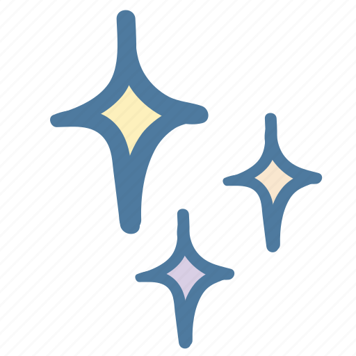 clean, doodle, glare, star, stars icon