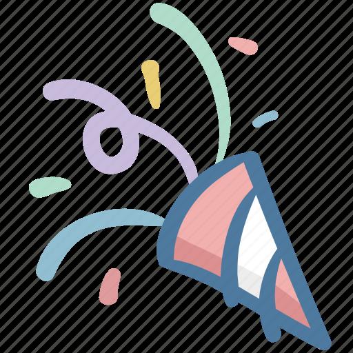 celebrate, celebration, doodle, party, poppers icon
