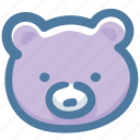 animal, bear, doodle icon