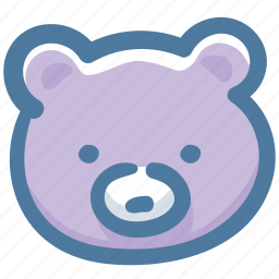 animal, bear, doodle icon