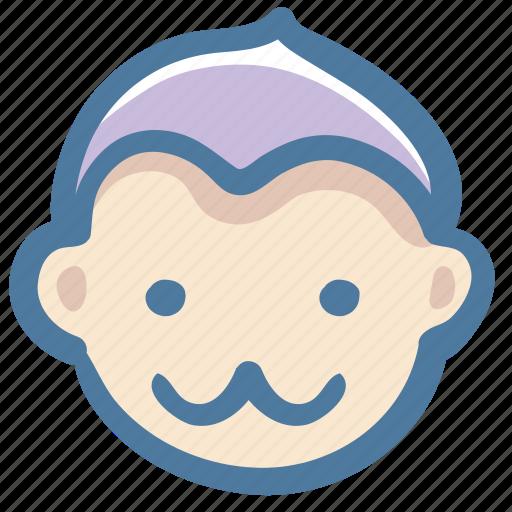 animal, avatar, doodle, monkey icon